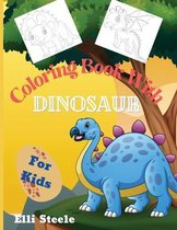Coloring Book With Dinosaur for Kids