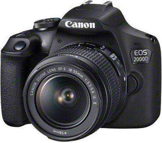 Canon EOS 2000D + 18-55mm III - Zwart