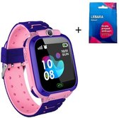 Kinder Smartwatch - Roze - Inclusief Simkaart - LBS locatie - Digitale touchscreen