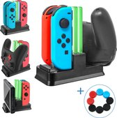 Vennic Quad Lader Voor Nintendo Switch - Switch Oplaadstation - Quad Charger - Switch Docking Station - Geschikt voor: Switch (Pro) Controller, Nintendo Switch Joy-Con En Console - USB C - Met Inclusief 8 Thumb Grips - Nintendo Docking Station
