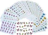 Pakket van 50 vellen met water transfer stickers / decals - Sparkolia nagel styling - nail art velletjes - nagelstickers