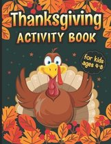Thanksgiving Activity Book Ages 4-8
