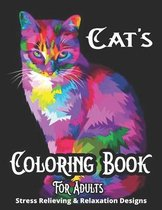 Cat's Coloring Book For Adults Stress Relieving & Relaxation Designs