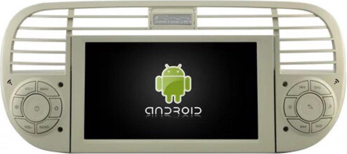 DVD speler Fiat 500 2007-2015 4+32GB Android 10 navigatie en multimediasysteem WIT