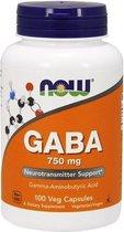 GABA 750mg Now Foods 100v-caps
