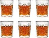 Libbey shotglas Hobstar - 60 ml / 6 cl - 6 stuks - vintage design - vaatwasserbestendig - hoge kwaliteit