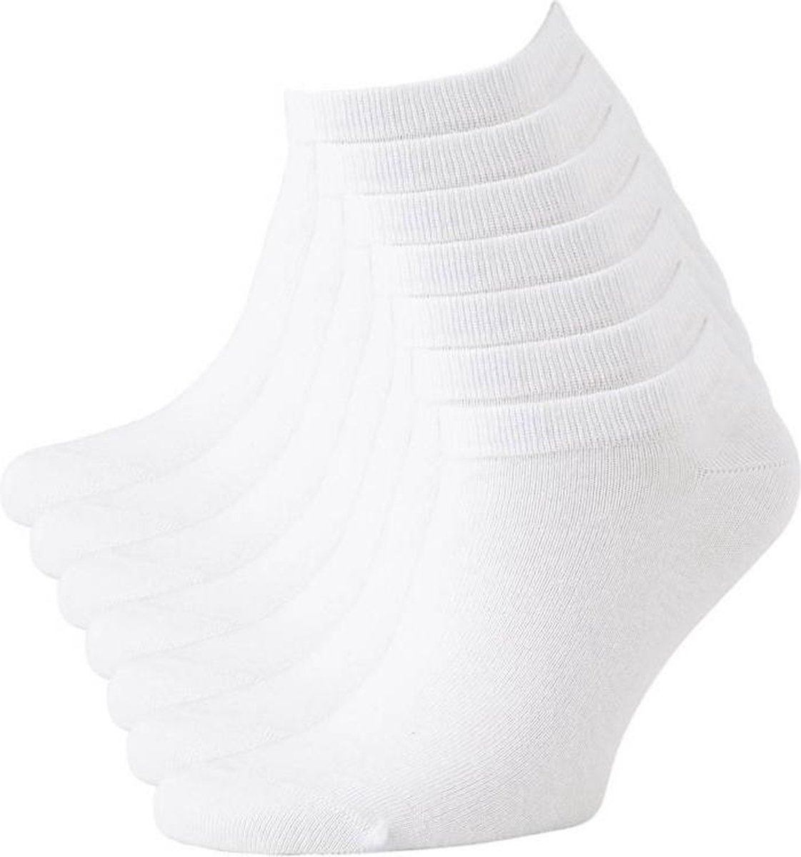 Sneaker Sokken - Enkel Sokjes - Wit - Maat 39/42 - 6 Pack