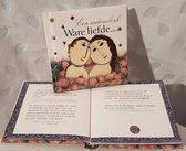 LIBOZA - Vrienden(dinnen)boekje 'Ware liefde' - 11 x 11 - 58 blz - Cadeau - Liefde - Geluk