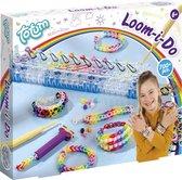 Totum Loom I do - loomset met tool en loom elastiekjes om armbandjes te maken - complete knutselset regenboogthema