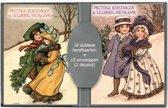 50 stuks Kerstkaarten - Nostalgische - Vintage met envelop | 5 pakjes | serie 19-4