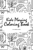 Kids Playing Coloring Book for Children (6x9 Coloring Book / Activity Book)