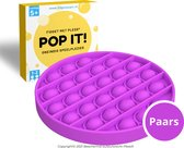Fidget Toys Pop It Speelgoed - Cirkel Paars - Met