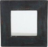 Wandspiegel in Houten Lijst | Houten Spiegeltje | Tuinspiegel | Buitenspiegel | Glazen Spiegel| 16 x 16 cm | Muurdecoratie | Wanddecoratie