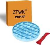 ZTWK© - Fidget toys pop it + Mesh and Marble - Fidget toys pakket - Fidget toys - Blauw