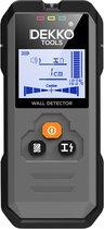 Dekko Tools Digitale Leidingzoeker tot 120 mm - 5 in 1 Detector voor muren - Hout, Metaal, Leidingen, Bedrading
