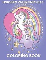 Unicorn valentine's day Coloring Book