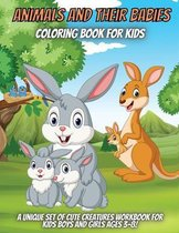 Animals And Their Babies Coloring Book For Kids