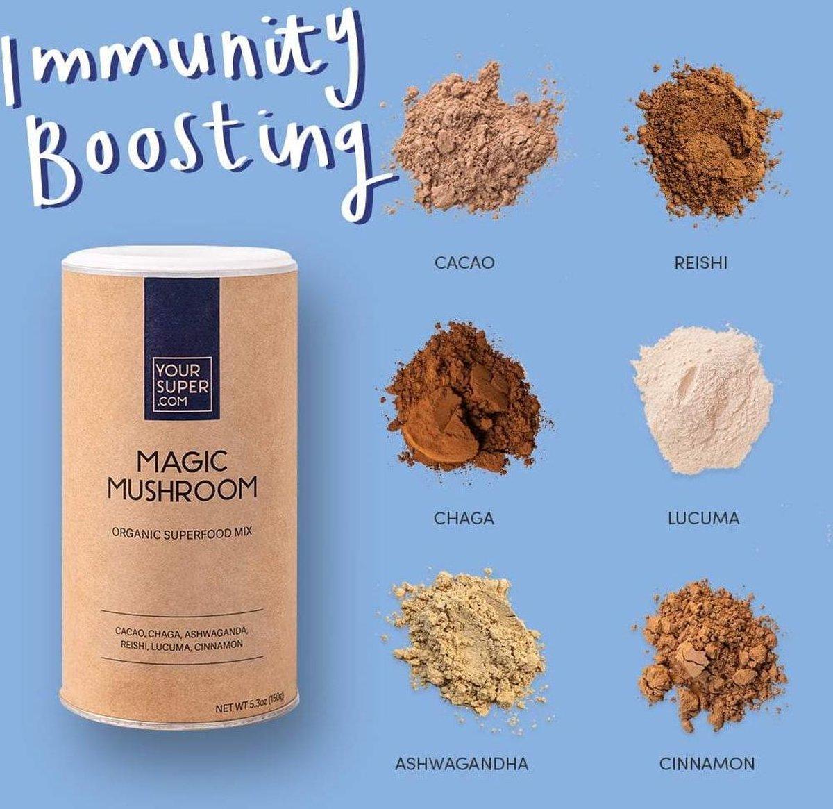 Your Super - MAGIC MUSHROOM - Organic Superfood Mix - Plantaardig - Verbeter humeur en immuunsysteem
