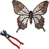 Mozaiek pakket Vlinder Zwart/Zilver + mozaiektang