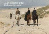 Kalender Hollandse Meesters 2021 - Jaarkalender met weeknummers - Jaarplanner - Verjaardagskalender Kunst - A4
