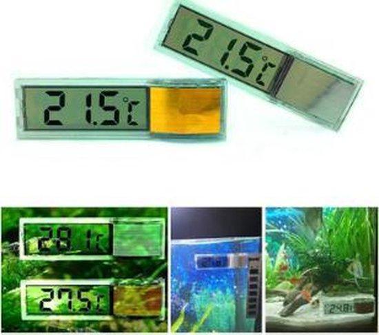 Dierplezier - Thermometer aquarium - Digitale thermometer - Aquarium thermometer strip - Digitaal water meten aquarium - Grootglas thermometer - Doorschijnende thermometer aquarium