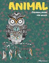 Mandala Coloring Books for Adults - Animal