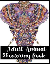 50 Adult Animal Coloring Book