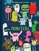 Funny Monsters Coloring Book for kids