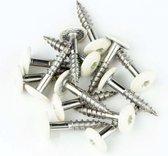 Trespaschroeven RVS 4,8x25 verpakt per 50 stuks gebroken wit (RAL 9010)