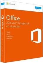 Microsoft Office 2016 Home & Student - Windows - Engelstalig (code in doosje)