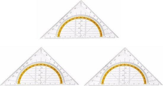 Afbeelding van 3x Geo driehoek 14 cm