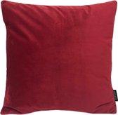 Velvet Donkerrood Kussenhoes | Fluweel - Polyester | 45 x 45 cm | Rood