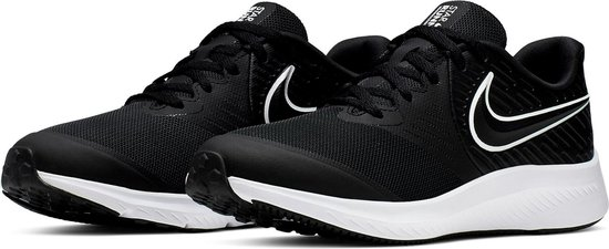 Nike Star Runner 2 (GS) Sneakers - Maat 39 - Unisex - zwart/wit