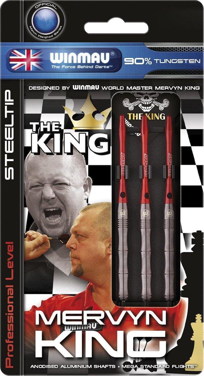 Winmau Mervyn King steeltip dartpijlen PVD grip - 24 gram