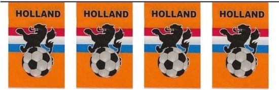 Vlaggenlijn/vlaggetjes oranje Holland 10 meter