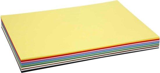 Afbeelding van Gekleurd karton, A2 420x600 mm, 180 gr, 20 div vellen, diverse kleuren speelgoed