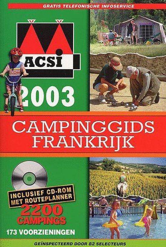 Cover van het boek 'ACSI Campinggids Frankrijk / 2003 + CD-ROM'