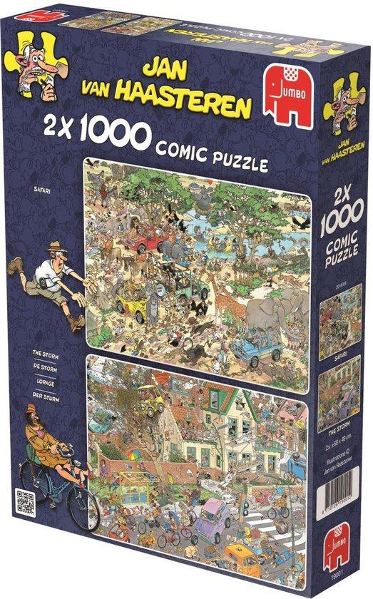 Jan van Haasteren Safari & Storm 2-in-1 puzzel - 2 x 1000 stukjes - Jan van Haasteren