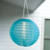 Premium Snoerloze Blauwe LED Solar Lampionnen Set – 3 Stuks x 58cm - Ø28cm   Grote Tuin Lampionnen met Zonnepaneel en Lichtsensor   Lampion Tuinverlichting op Zonne-energie   Lampion Feestverlichting   Tuinverlichting   Buitenverlichting   Blauw
