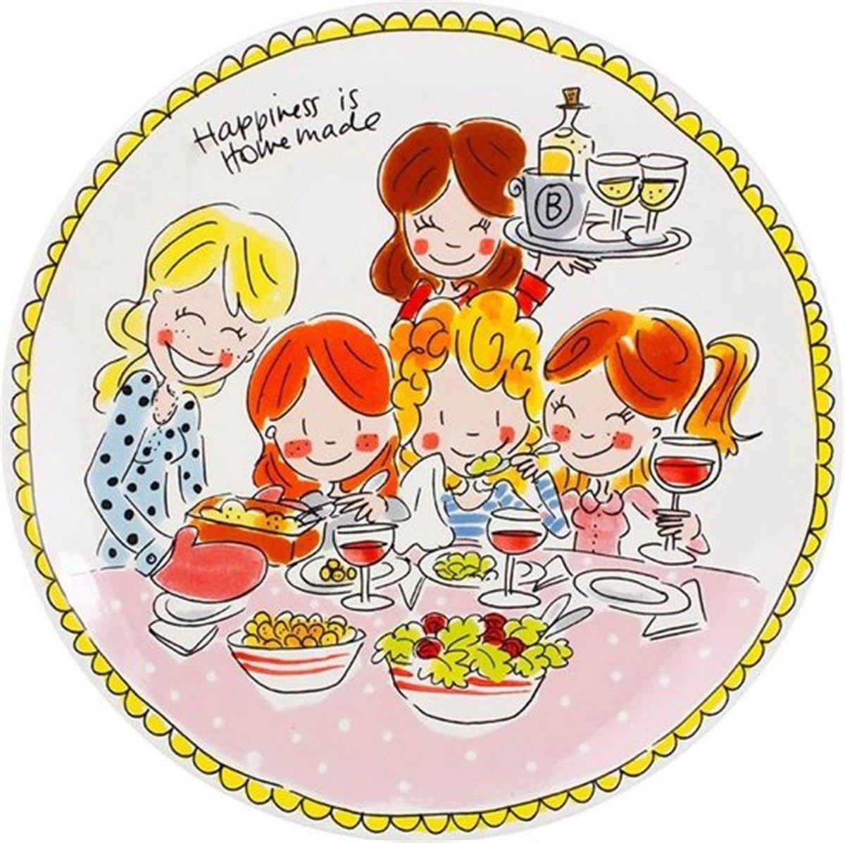 Blond Amsterdam bord Even bijkletsen - Girls - Ø 26 cm