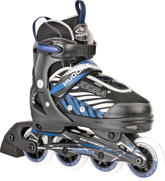 Hudora Kinder inline skates Leon Blauw – Zwart maat 33-36