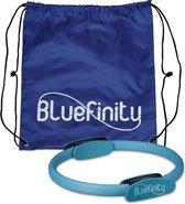 Bluefinity Bluefinity - pilatesring 39 cm - pilates cirkel turkoois - 2 handgrepen - yoga