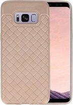 Goud Geweven TPU case hoesje voor Samsung Galaxy S8