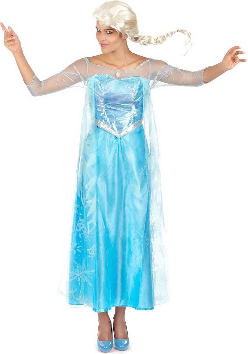Disney Frozen Jurk - Prinses Elsa - Volwassenen - Verkleedkleding - Maat M - Carnavalskleding