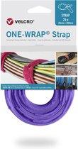 Velcro One-Wrap klittenband kabelbinders 200 x 12mm / paars (25 stuks)