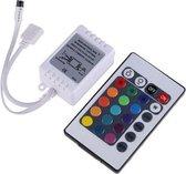 RGB LED IR Controller + Afstandsbediening 24 knoppen (Female - RGB aansluiting) - Met geheugeneffect
