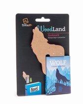 Woodland Animal Bookmark Wolf
