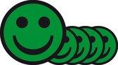Magnetische smiley 5 cm – Groen