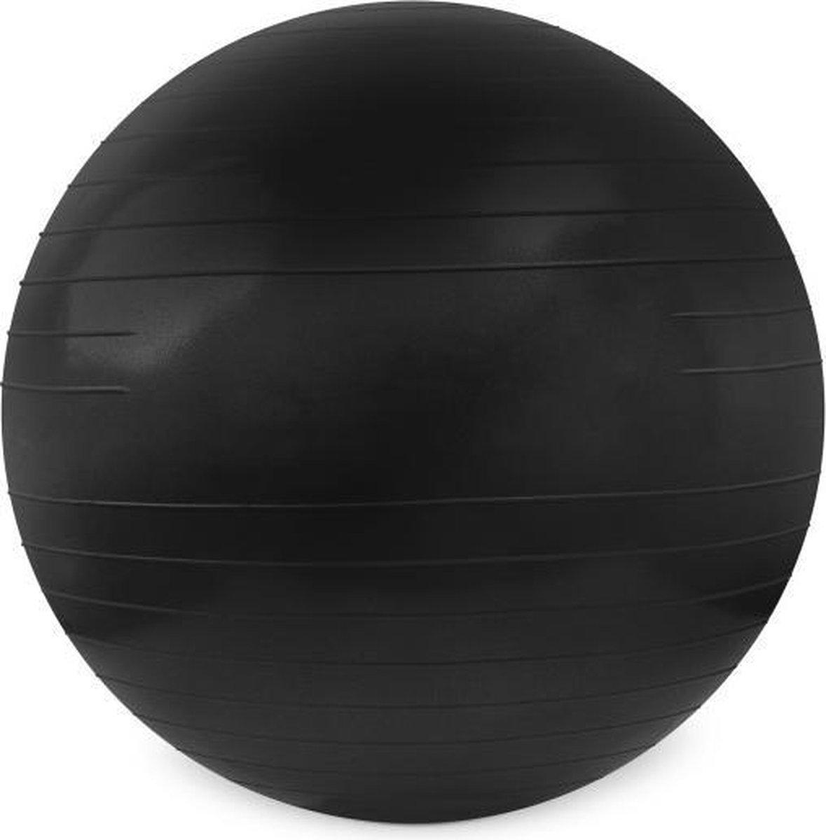 Matchu Sports Fitnessbal 85cm Zwart (Matchu Sports Gymbal 80cm Black). - Matchu Sports