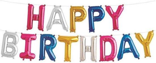 Folie Happy Birthday multi color